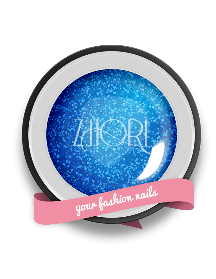 Blu Sirena gel color Glitter GT01 UV/LED
