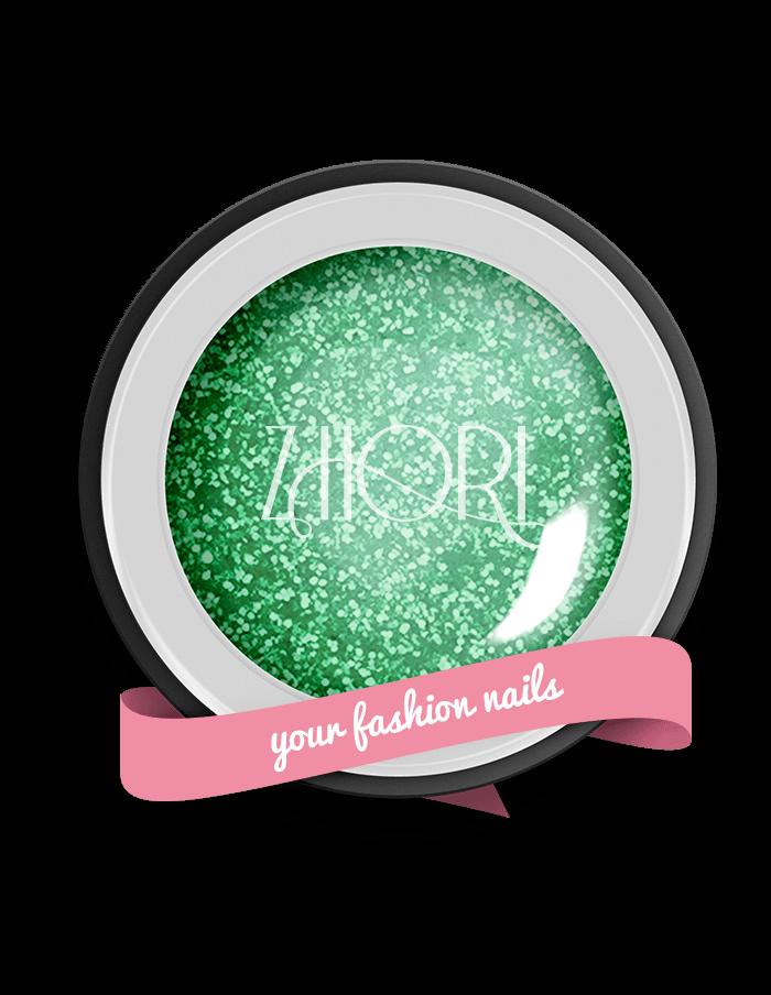 Emerald gel color Glitter GT07 UV/LED