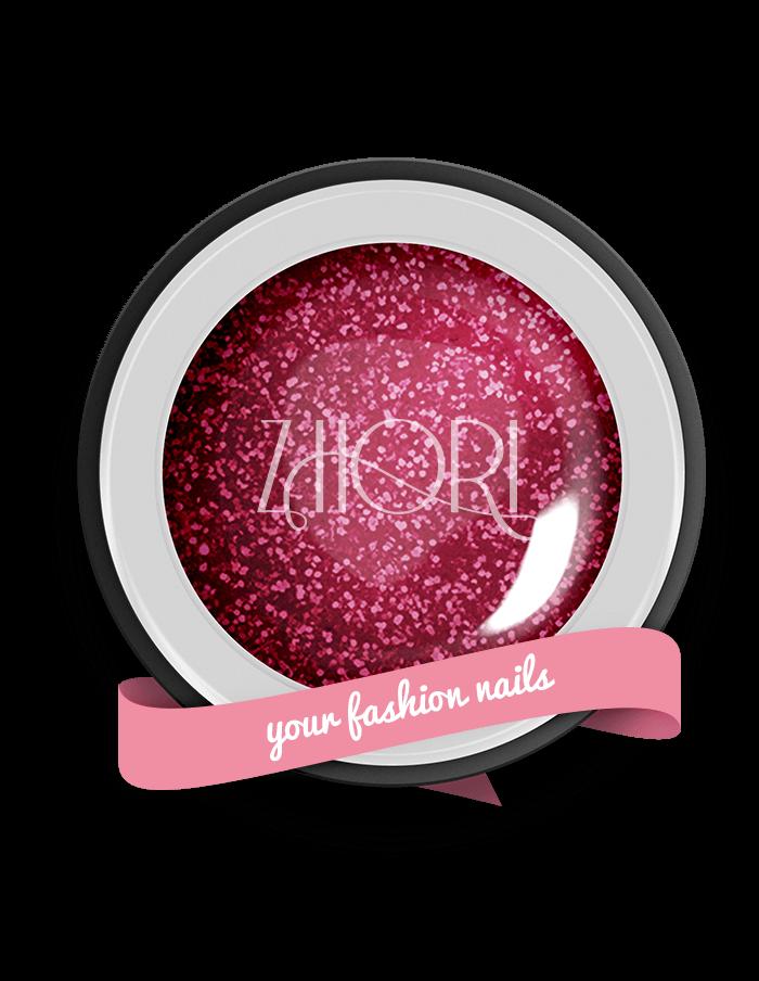 Rubino Stellato gel color Glitter GT08 UV/LED