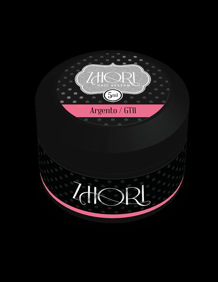 ARGENTO gel color Glitter GT11 UV/LED